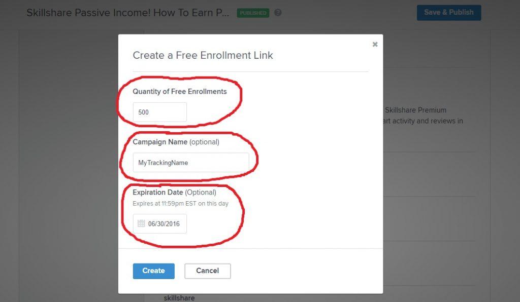 Enrollment Link Details