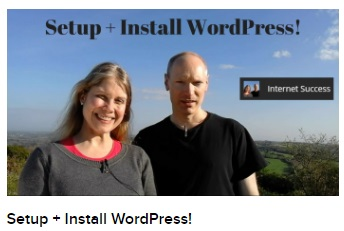 Setup + Install WordPress