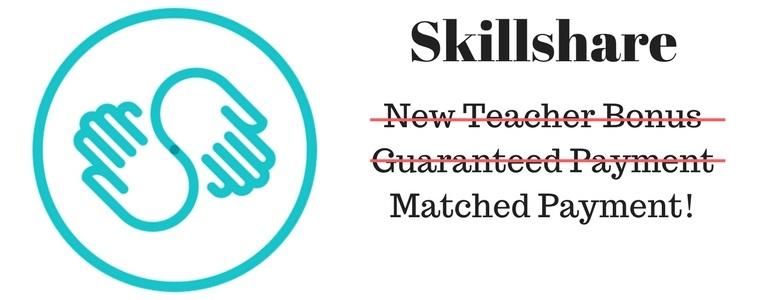 Skillshare – New Teacher Bonus Changes