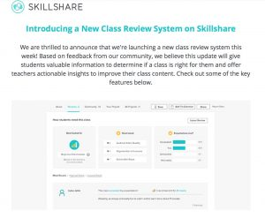 New Skillshare Review System