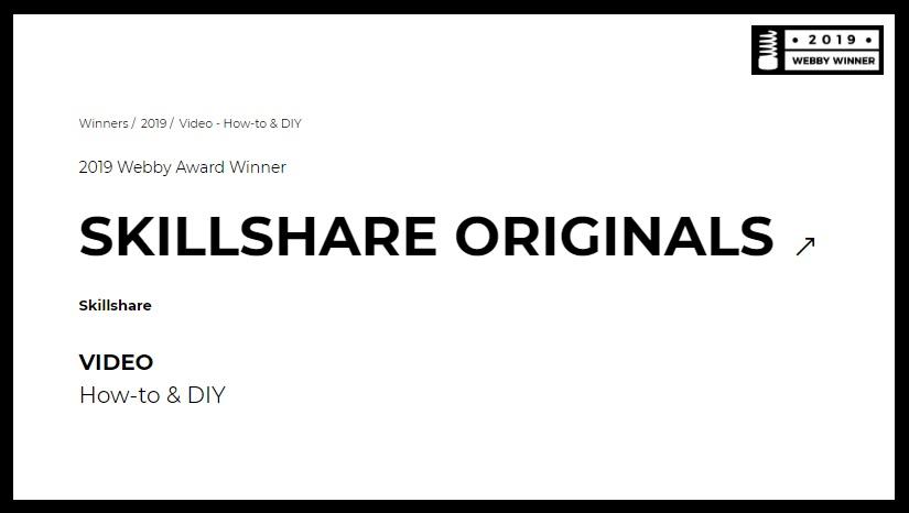 Skillshare Wins A Webby For Their Skillshare Originals