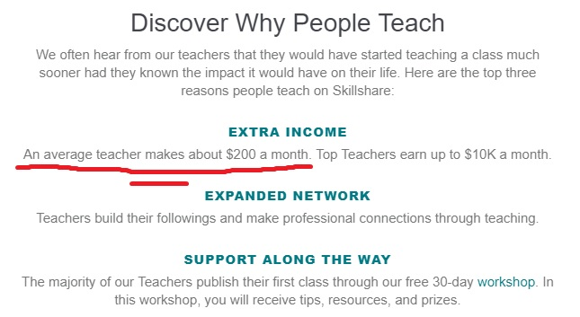 Skillshare Teacher Income Email